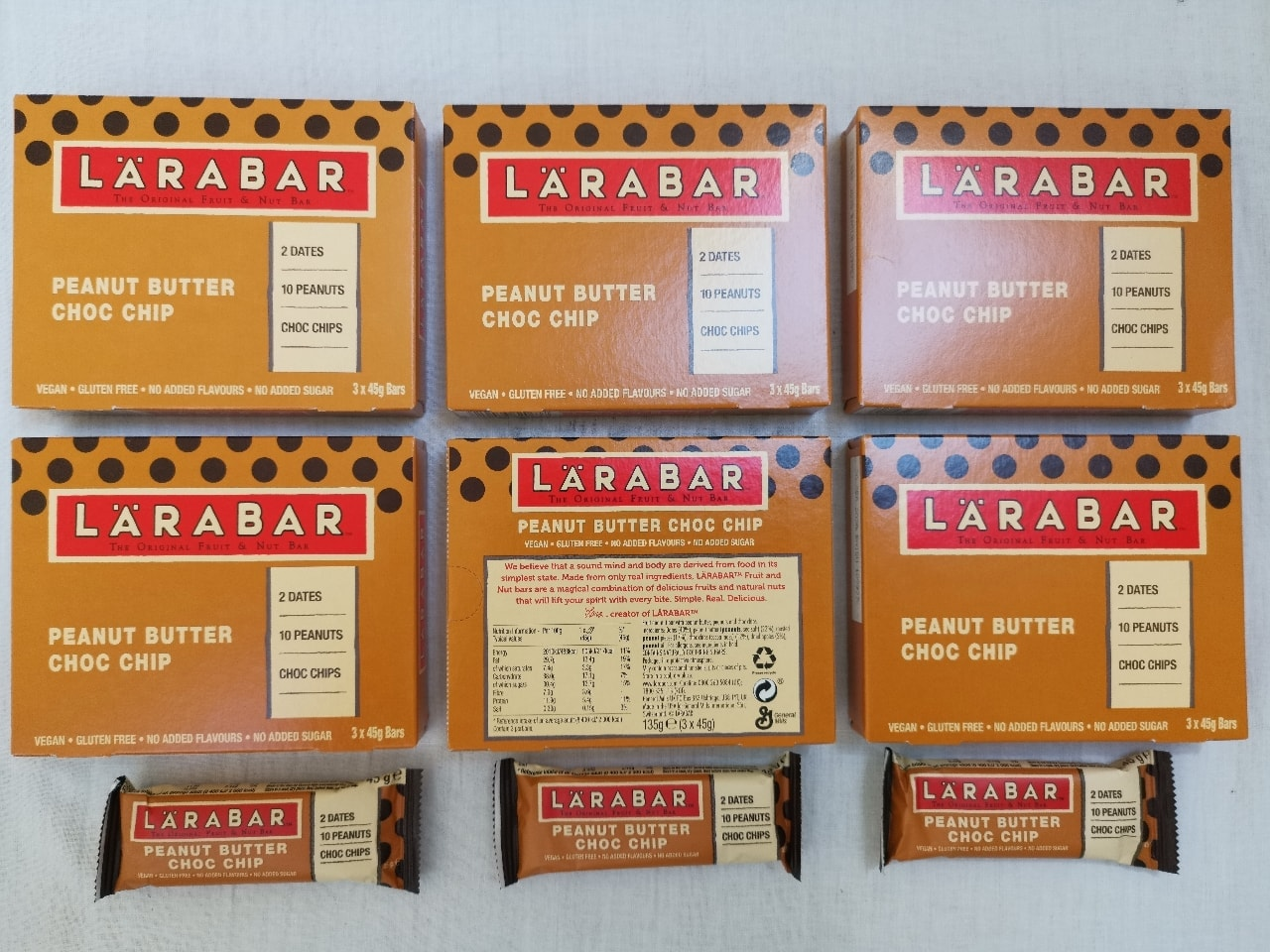 Peanut Butter Choc Chip Energy Bars by LaraBar 🥜 🍫