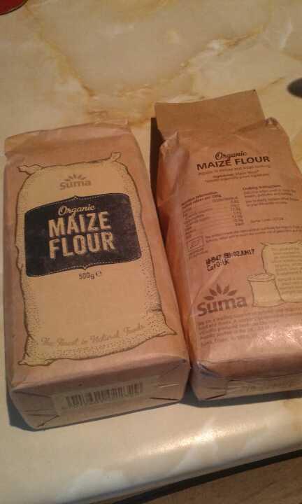 Organic maize flour x2