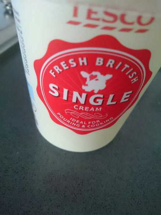Single cream unopened
