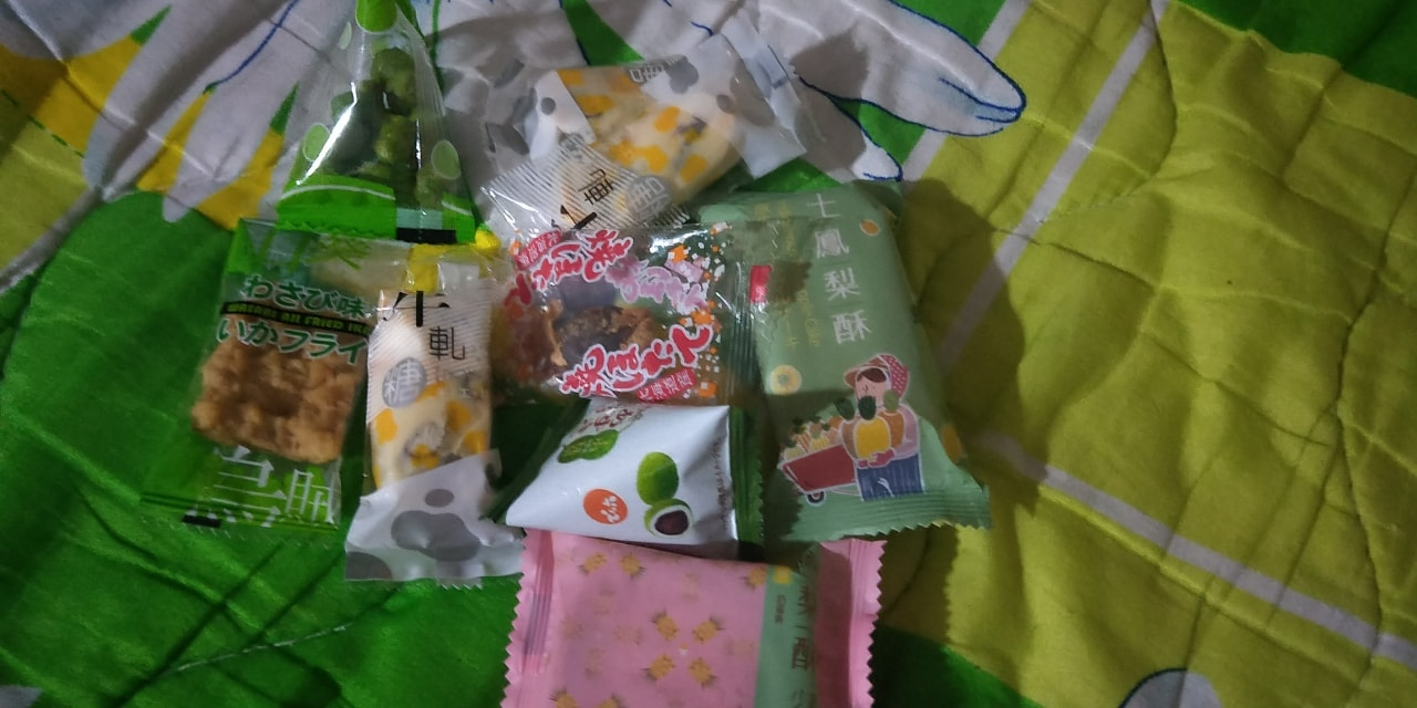 Snacks from Japan and Taiwan