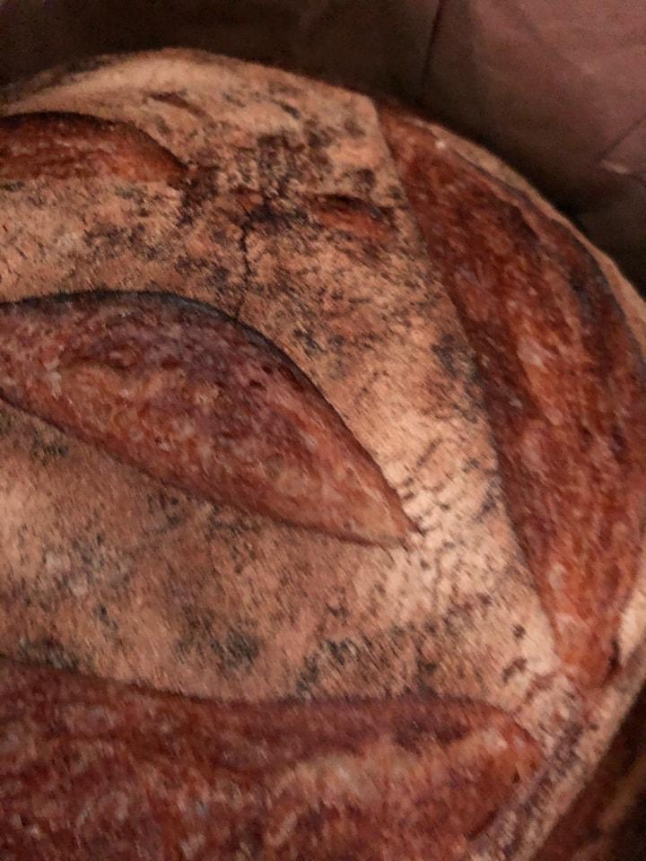 1x  fresh white sourdough bread , from Brunkebergs bageri 26/5