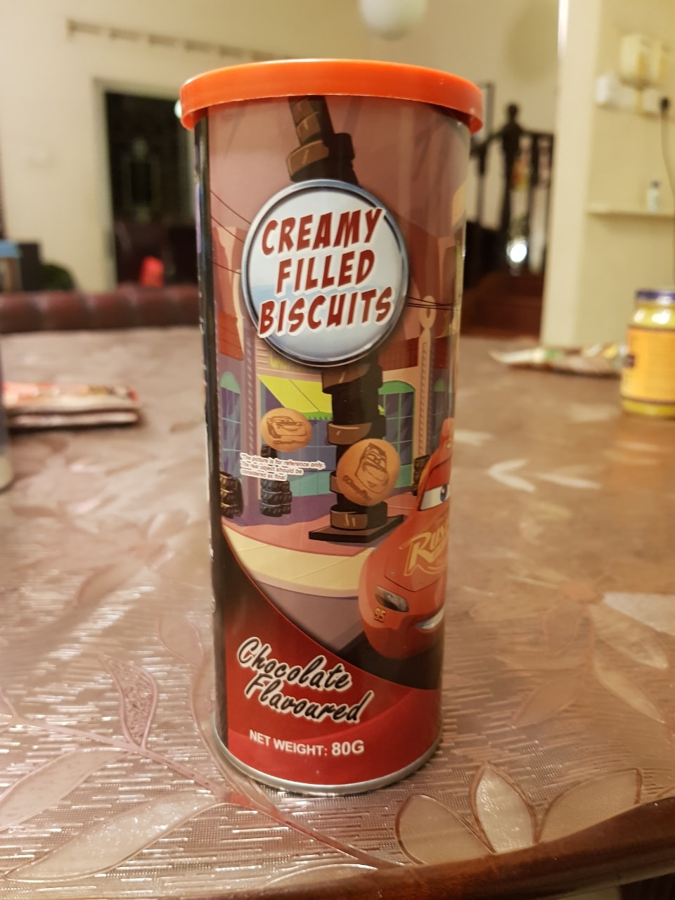 Creamy filled biscuits