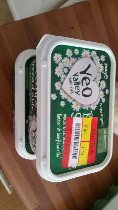 1pack Yeo Valley spreadable butter from Alliance