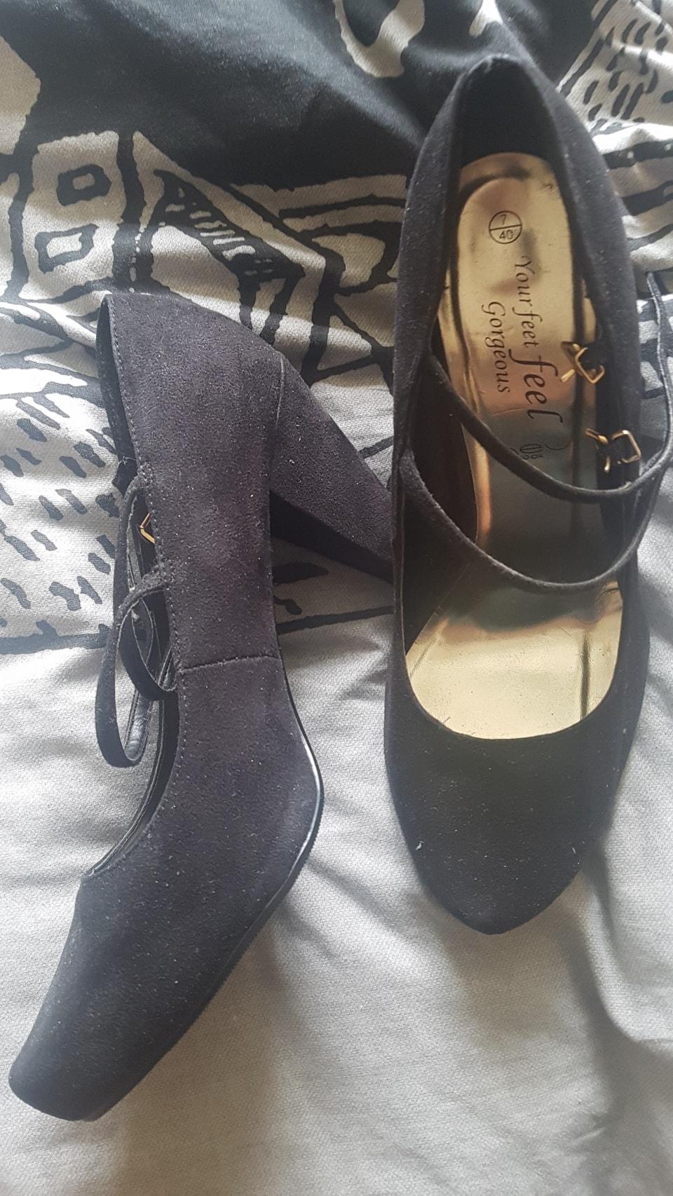 New Look Black High Heel Shoes UK7