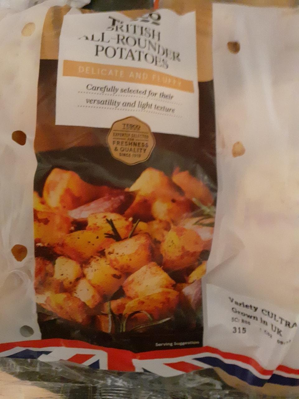 Tesco all rounder potatoes