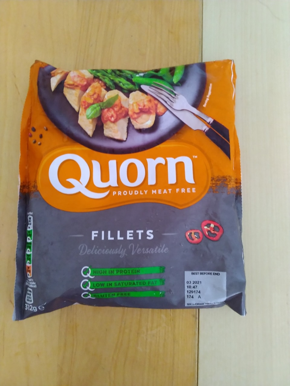 Filetts Quorn  defrosted today