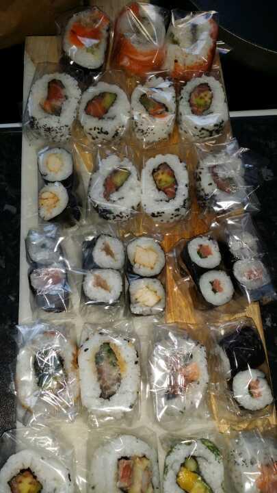 Bento sushi selection