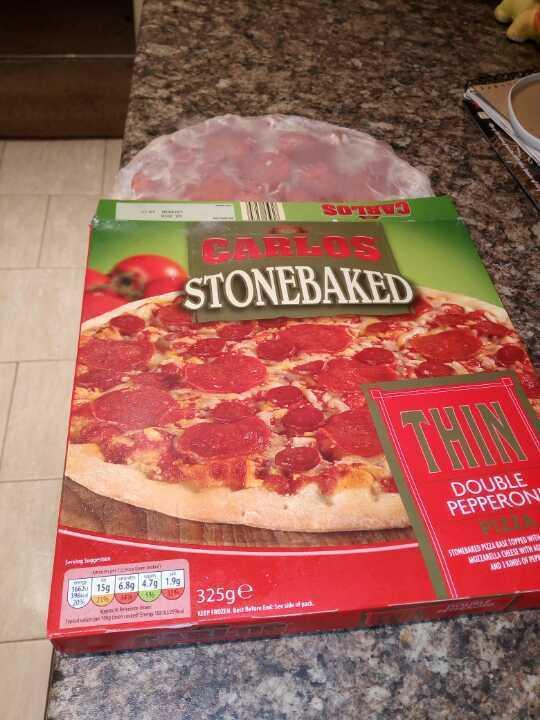 Aldi frozen pepperoni pizza.