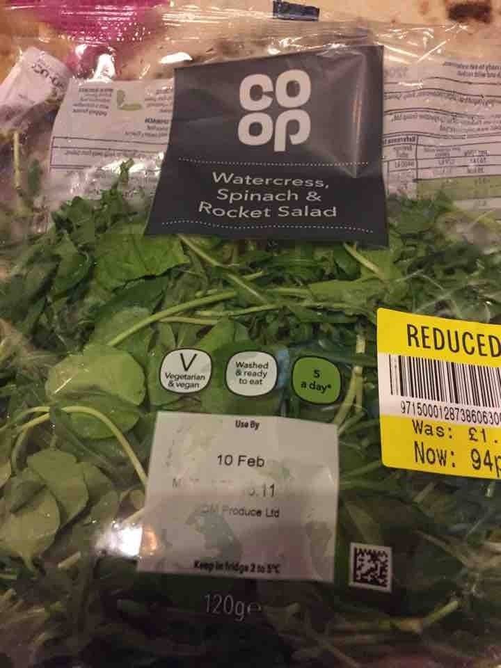 Watercress spinach and rocket salad