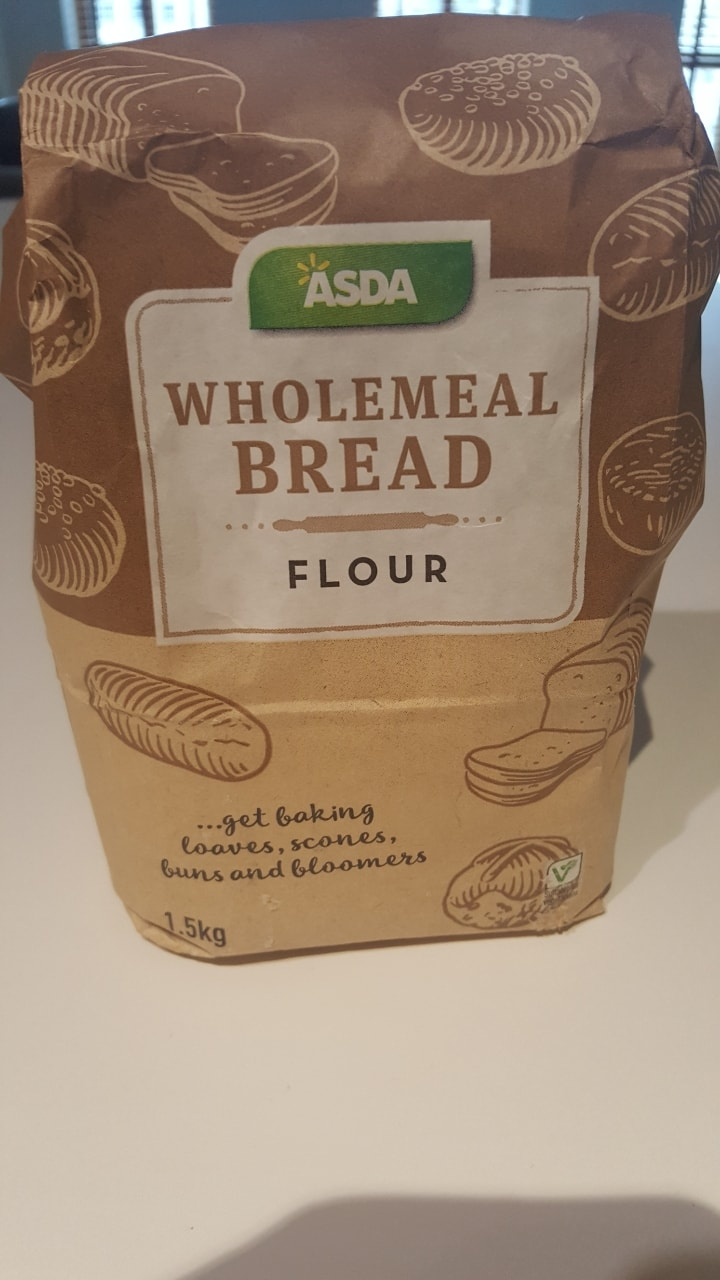 650g wholemeal bread flour
