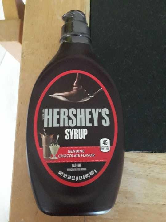 Hershey syrup (sealed bottle)