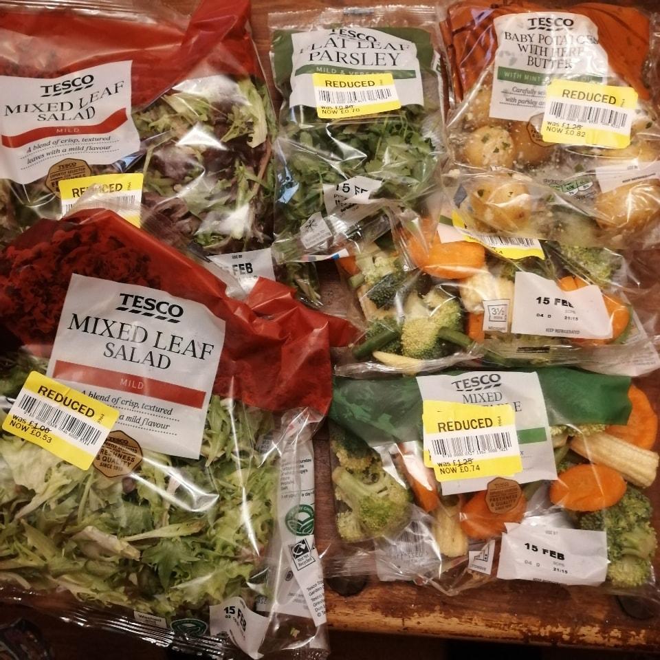 TESCO mixed vegetables x6 (potatoes contain dairy)