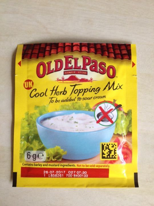 Old El Paso- cool herb topping mix 6g