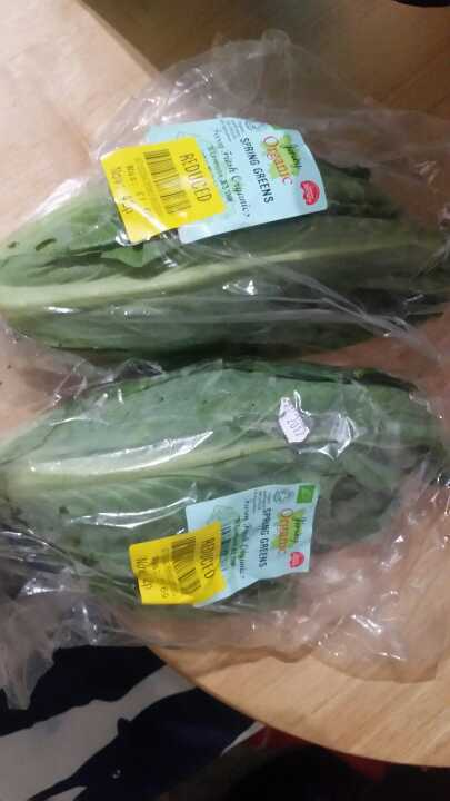 Organic spring greens from Coop