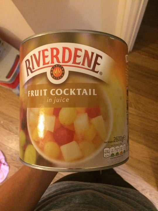 BIG can of fruit salad
