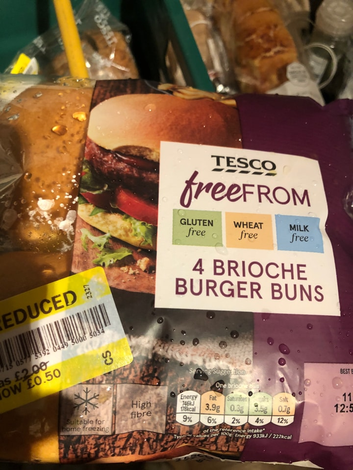 Tesco- free from brioche buns