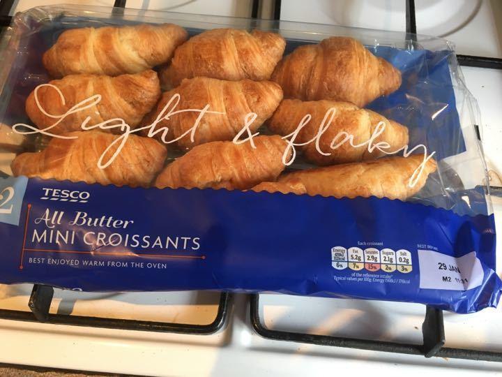 12 Tesco mini all butter croissants