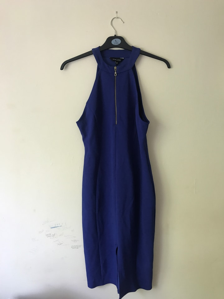 Blue New Look Dress SIZE 12-14