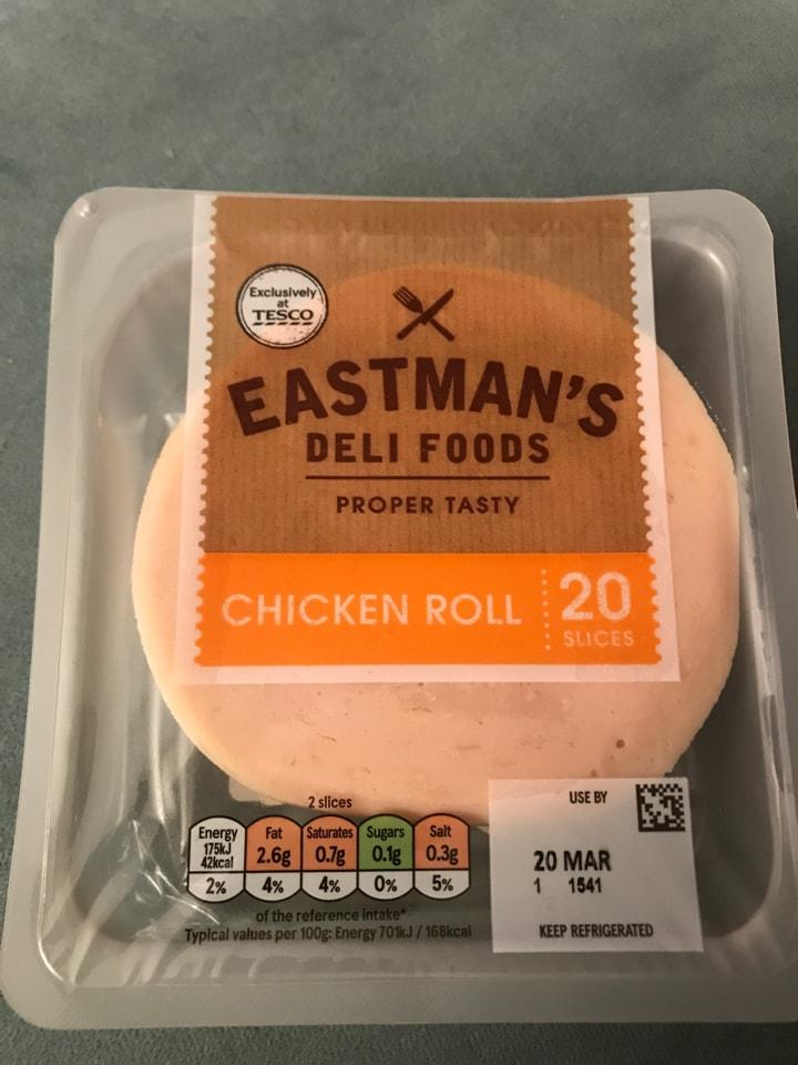 Eastmans Deli Food Chicken Roll 20 slices