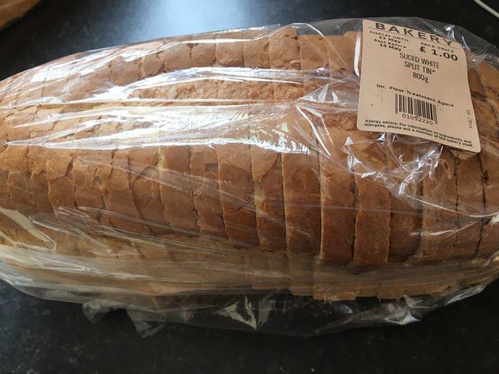 1 sliced white tin loaf