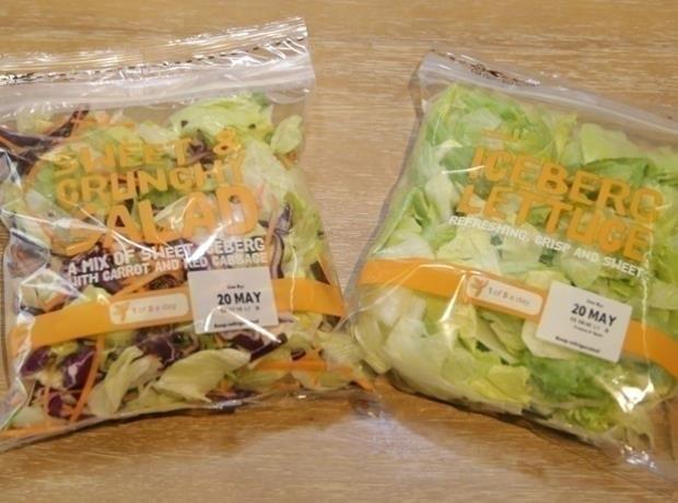 Tesco mixed salad bags