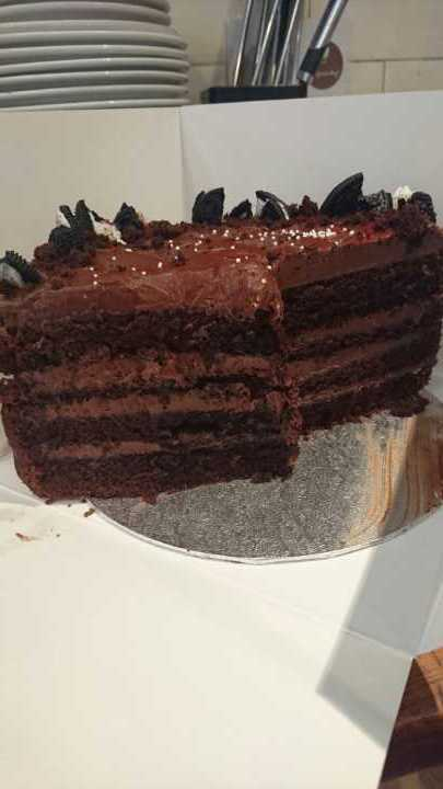 1/4 chocolate cake