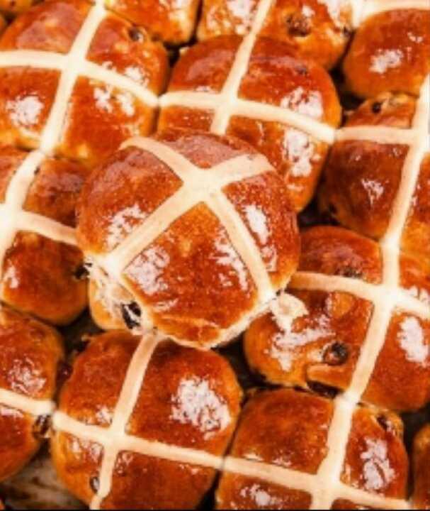 Hot cross buns - fresh from Sunday