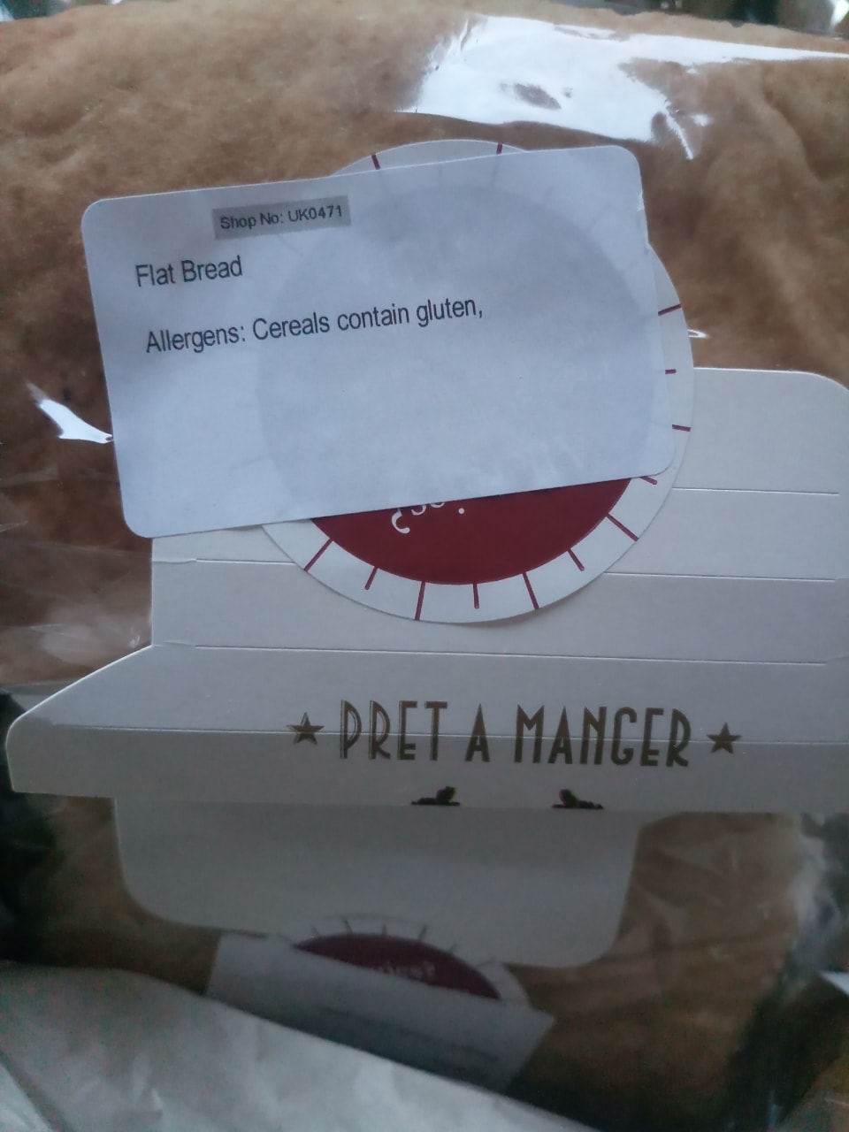 Pret a Manager- 3 Flat breads