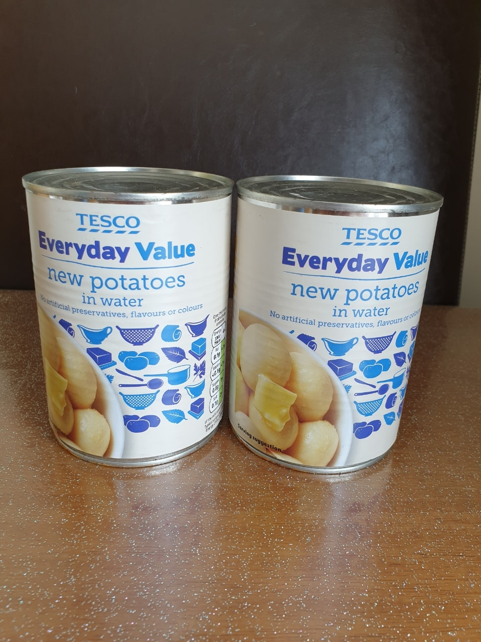 Tinned new potatoes in water