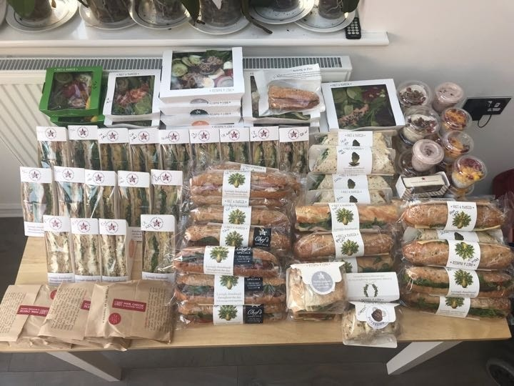 Selection of Pret food - Thursday 8pm in Salford