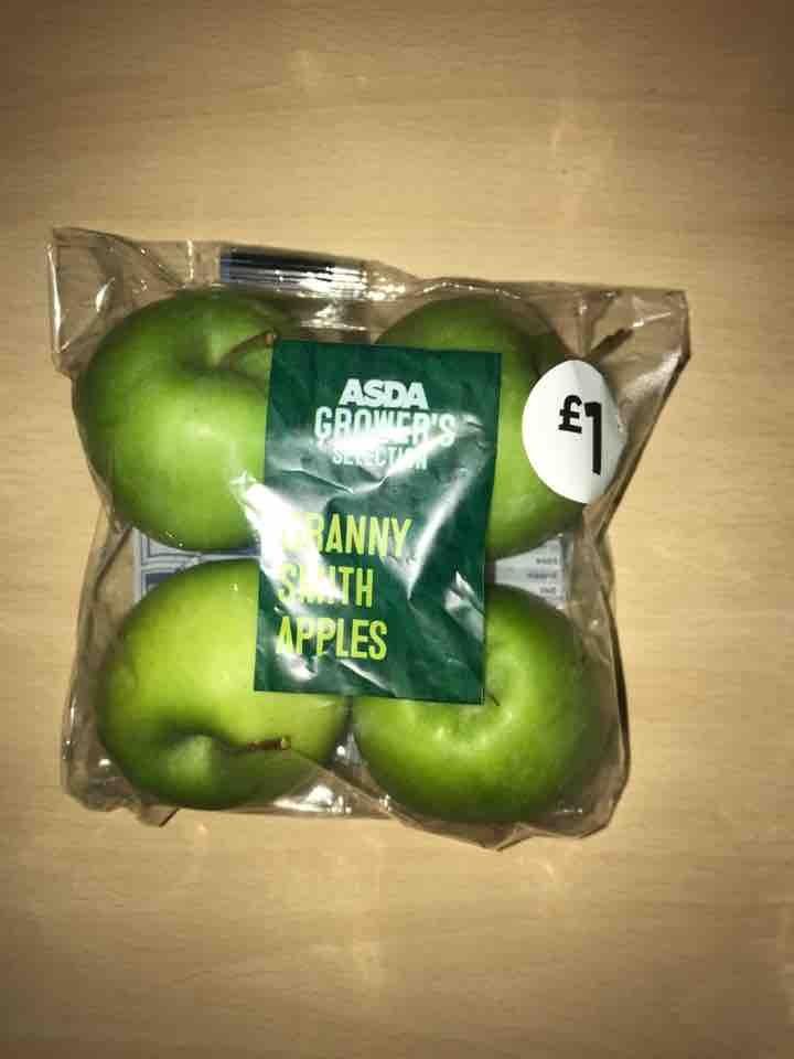 4 Granny Smith apples