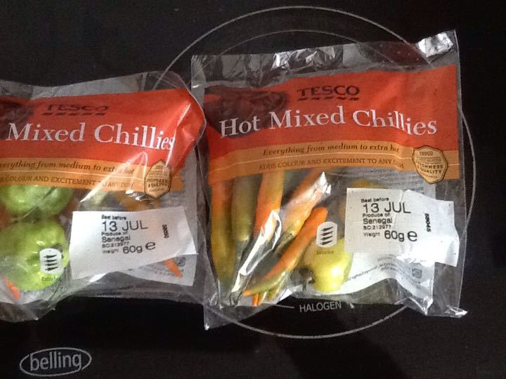 Mixed chilli's