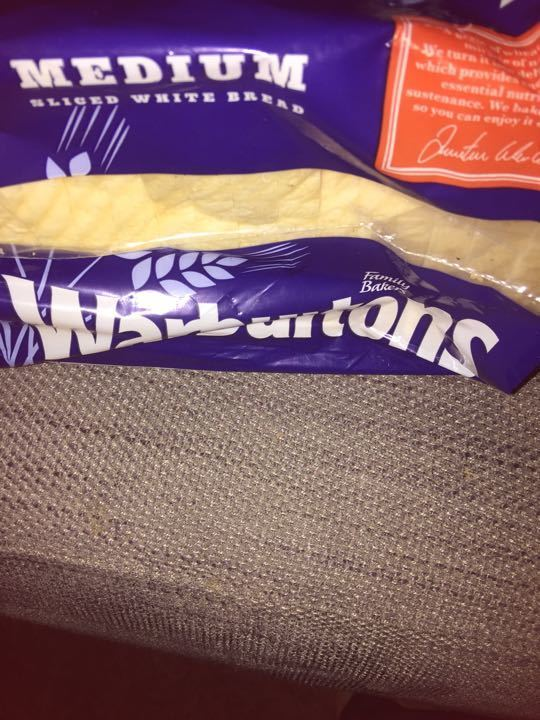 Medium sliced warburtons loaf