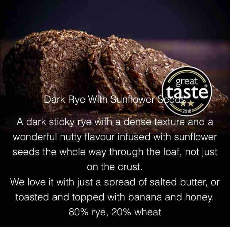Dark rye with sunflower seeds bread from karaway bakery