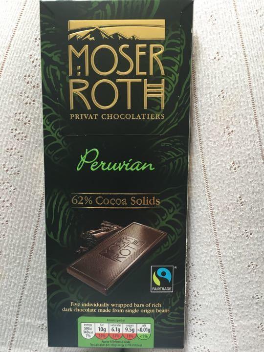 Moser Roth Chocolate unopened