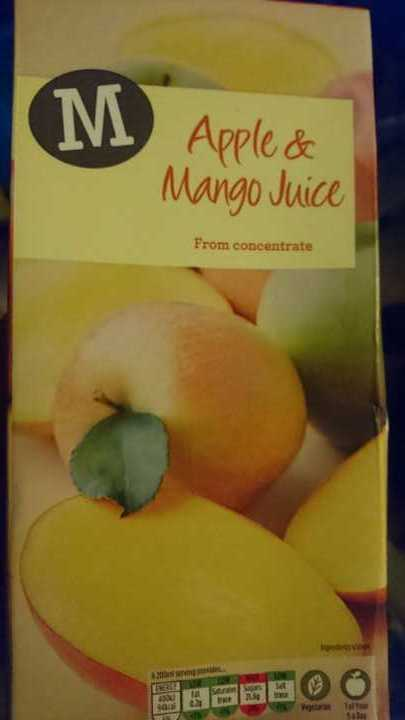 Apple and mango juice