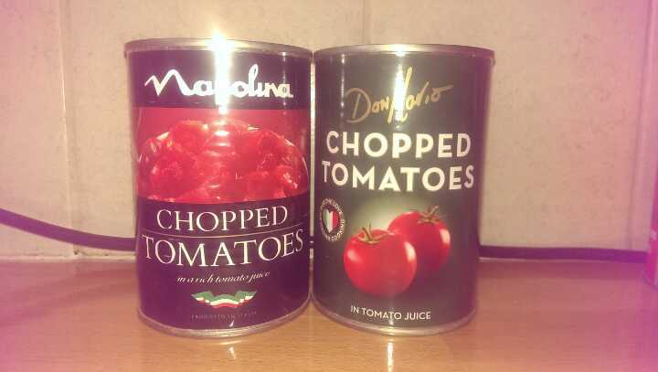 Tinned chopped tomatoes