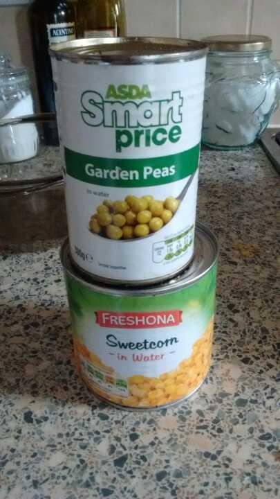 Garden peas and or sweet corn.