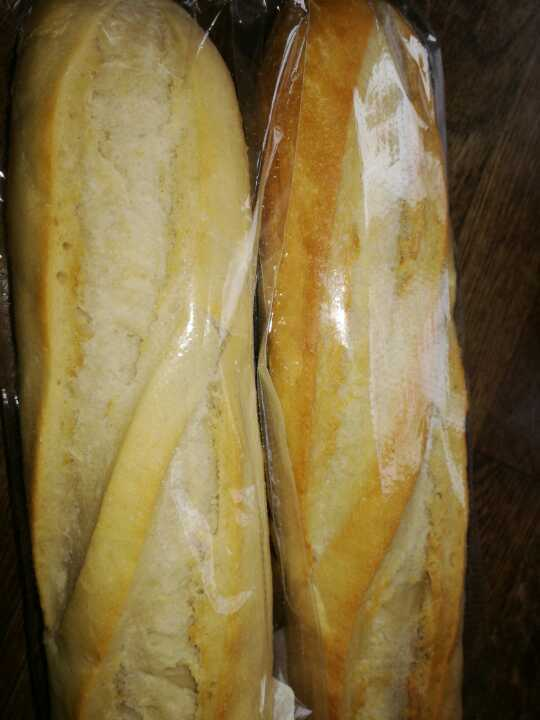Two small white baguettes