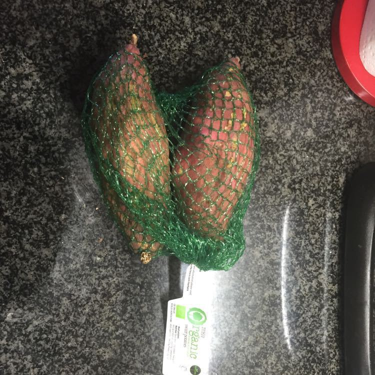 Organic sweet potatoes (x2)
