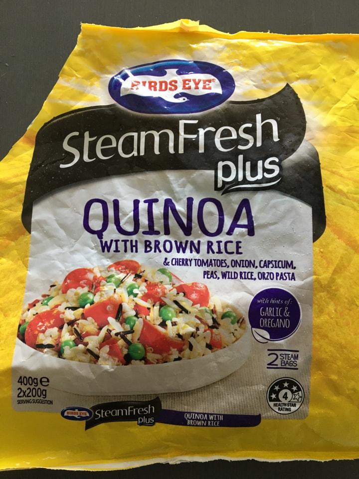 Birds Eye Steam Fresh Quinoa w Brown Rice