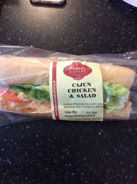 Cajun chicken salad baguette