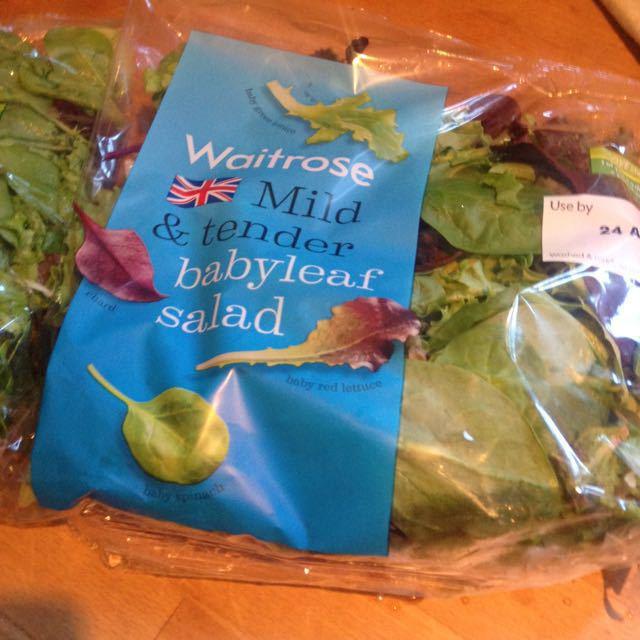 2x bags of waitrose salad