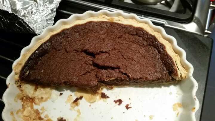 Homemade choc pie