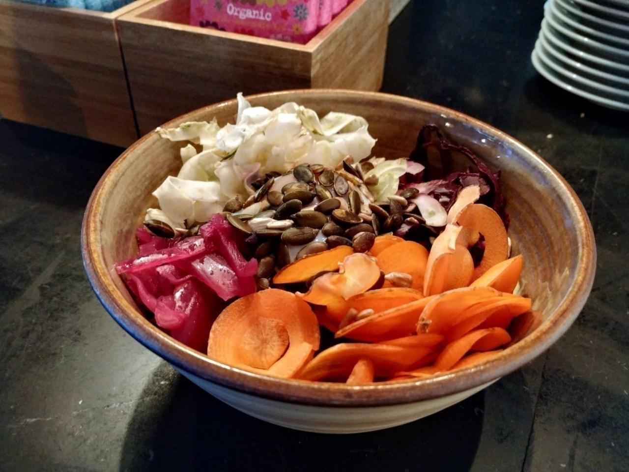 Vegetarian bowl from Fotografiska - not vegan