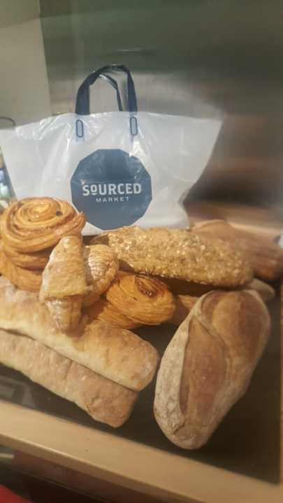 Selection of breads and pastries from SOURCED MARKET ST PANCRAS