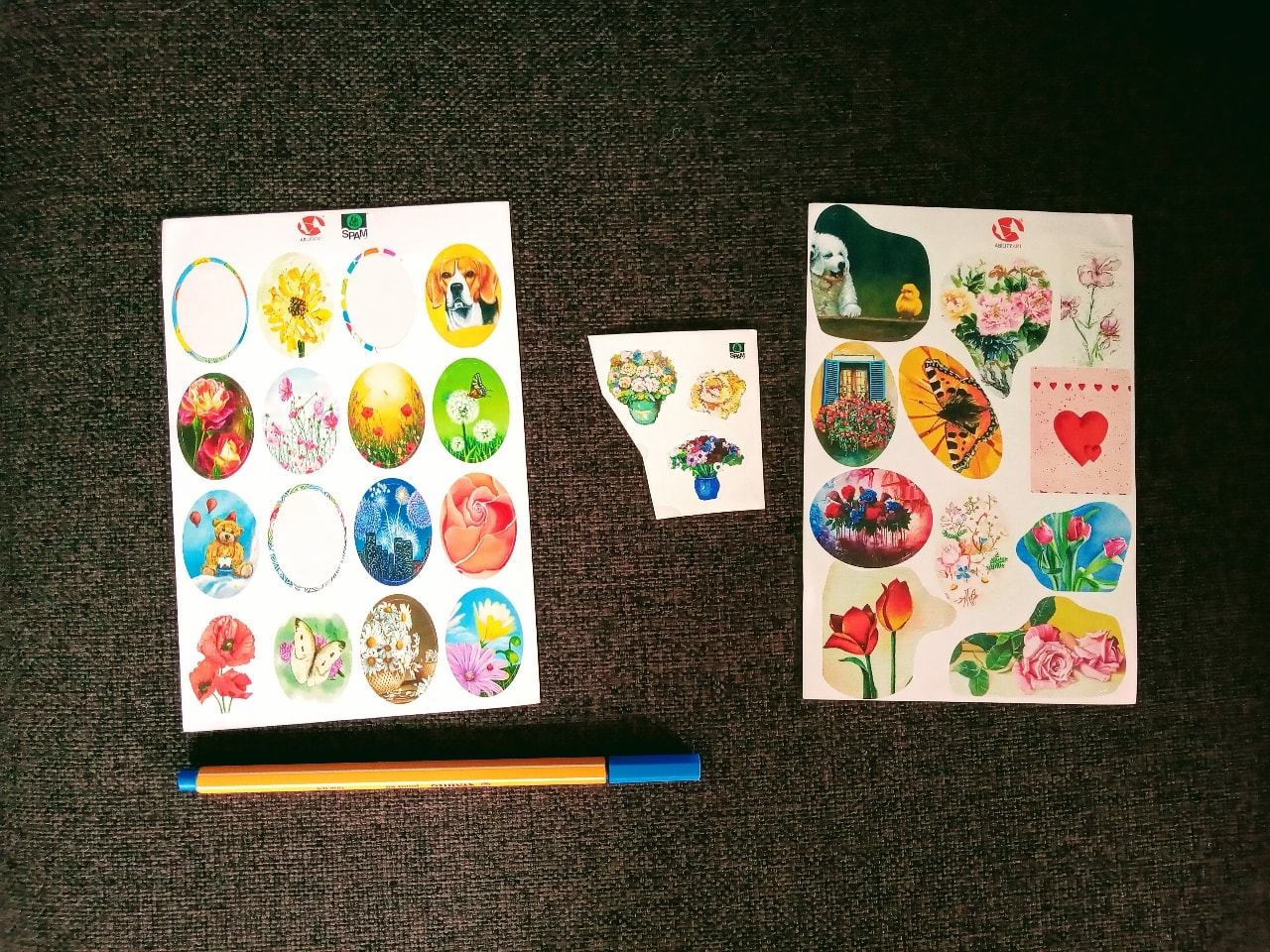 Stickers -flowers and animals theme