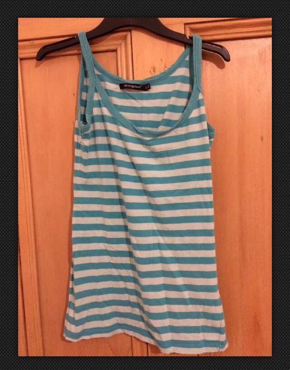 Stripy vest top