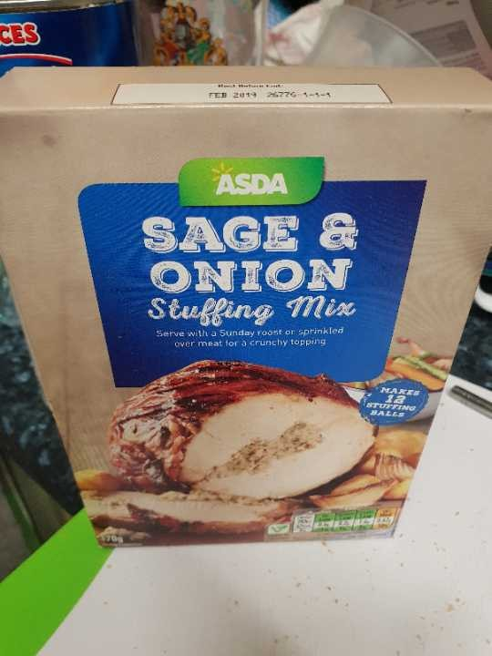 Asda sage and onion stuffing.