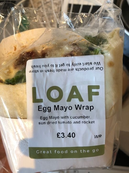 Egg mayo wrap from loaf
